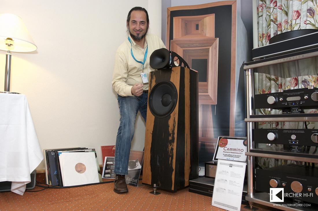 Andrea Vitali, global sales director for Blumenhofer Acoustics and Cammino