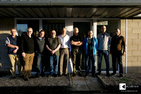 Group photo in front of AVID HIFI factory