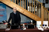 Engineer Uwe Draabe from Hamburg and his Nessie Vinylmaster and Vinylcleaner machines