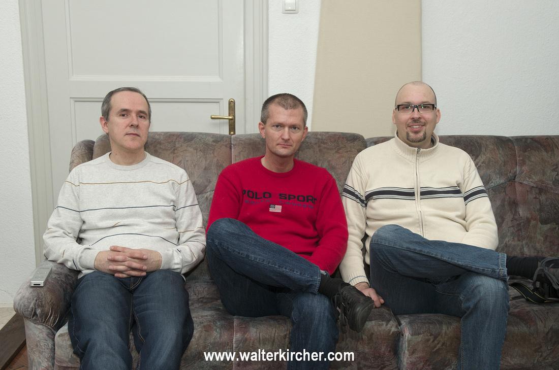 from left to right: Miro Krajnc - SoulSonic, myself and Matej Isak - MONOSTEREO
