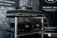 Symposium Acoustics Isis (Independent Shelf Isolation System) rack: Ultra shelfs and Silver Package (mirror-finish, hand-polished legs and high-polish Rollerblock modules with G10 balls)