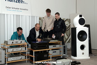 Milan Hanzel and Zalan Schuster with visitors at the High End Slovakia 2013 in Bratislava