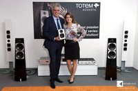 Vince Bruzzese (Totem Acoustic CEO) and Jasmin Weilenmann (CEO of High-End Company AG)