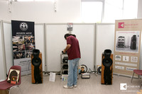 Andrea Vitali in front of the setup - global marketing & sales of Blumenhofer Acoustics and Cammino