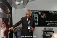 Vince Bruzzese, CEO of Totem Acoustic loudspeakers from Canada attending the HIGH END 2013 in Munich!