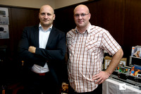 from left: Milan Hanzel with Mr. Partl jr. from Artaudio