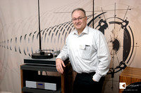 Chris Feickert in front of his turntable