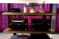 Trafomatic Audio 2-chassis statement preamps: left LARA line preamp and right LUNA phono stage