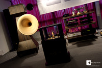Tune Audio Anima Hornspeakers, powered by Trafomatic Audio Elysium amps, assisted by Kion active horn subwoofers (not always used)