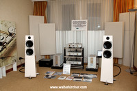 our first room: Accustic Arts and Totem Acoustic (High-End Company AG), assisted by Symposium racks and room acoustic tuning by Zalan Schuster