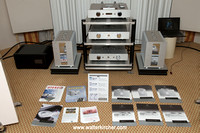 Accustic Arts reference electronics, Totem Element Metal speakers, Symposium (Isis rack, Ultra platforms and Rollerblocks), room acoustic tuning by Zalan Schuster with GIK Acoustic elements, PS Audio