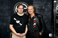 Hans Theessink with Michael Holzinger (owner of Sempre Audio magazine)