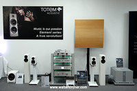 HIGH END 2014 Munich -  small setup: Totem Acoustic Arro and Kin/Kin Sub speakers, JMC Soundboard  with Accustic Arts (PLAYER II, PLAYER ES II, STREAMER ES), Accustic Arts and TM FLASH cables