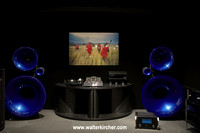 Avantgarde Acoustic Trio horn loudspeakers with basshorns - some electronics from Tom Evans, BAT and McIntosh