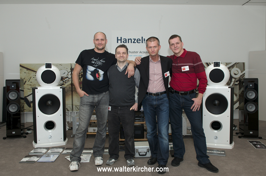 Group photo at the end of the successful High End Slovakia 2013 in Bratislava: Milan Hanzel, Zalan Schuster, xxx and myself