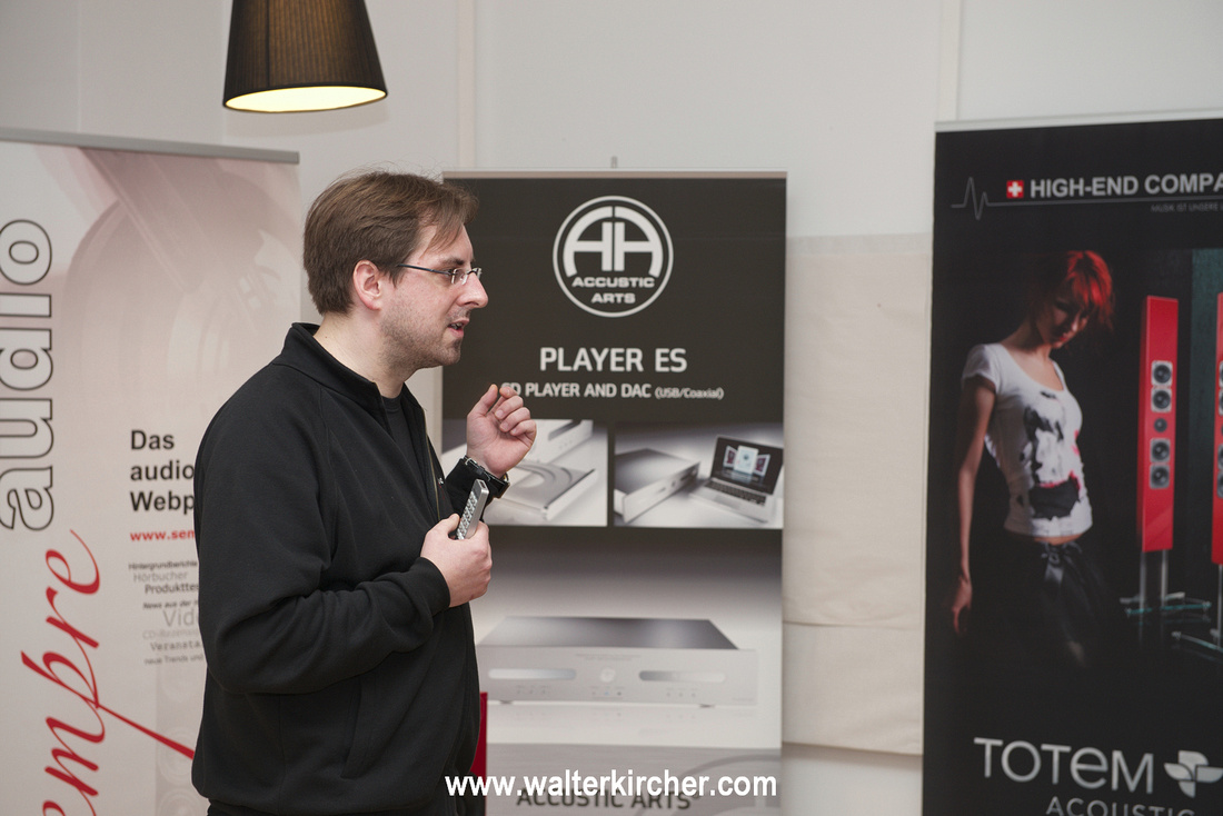 Michael Holzinger, chief editor of Sempre Audio tells about streaming using electronics from Accustic Arts and loudspeakers Forest from Totem Acoustic.