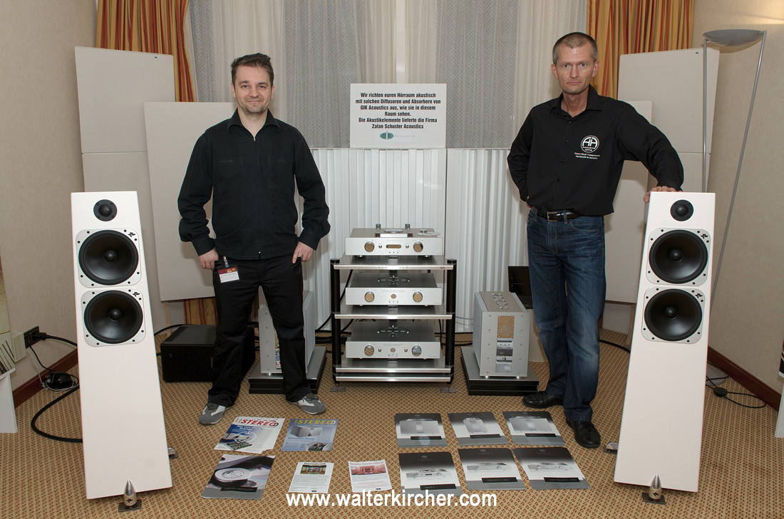 the team of Accustic Arts / Totem Element room: left Zalan Schuster (room acoustics) and myself (Totem, Accustic Arts setup)