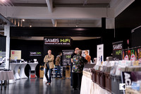 Big Sambs Hifi booth at the entry of the event / exhibition area