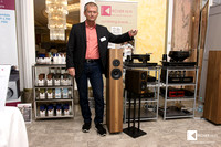 Walter Kircher in front of Chisto record cleaning booth