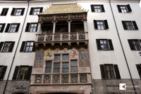 The Goldenes Dachl (Golden Roof) is the landmark in old town of Innsbruck.