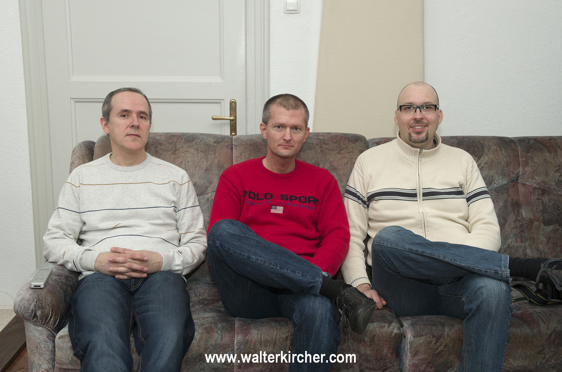 from left to right: Miro Krajnc - SoulSonic, myself and Matej Isak - MONOSTEREO