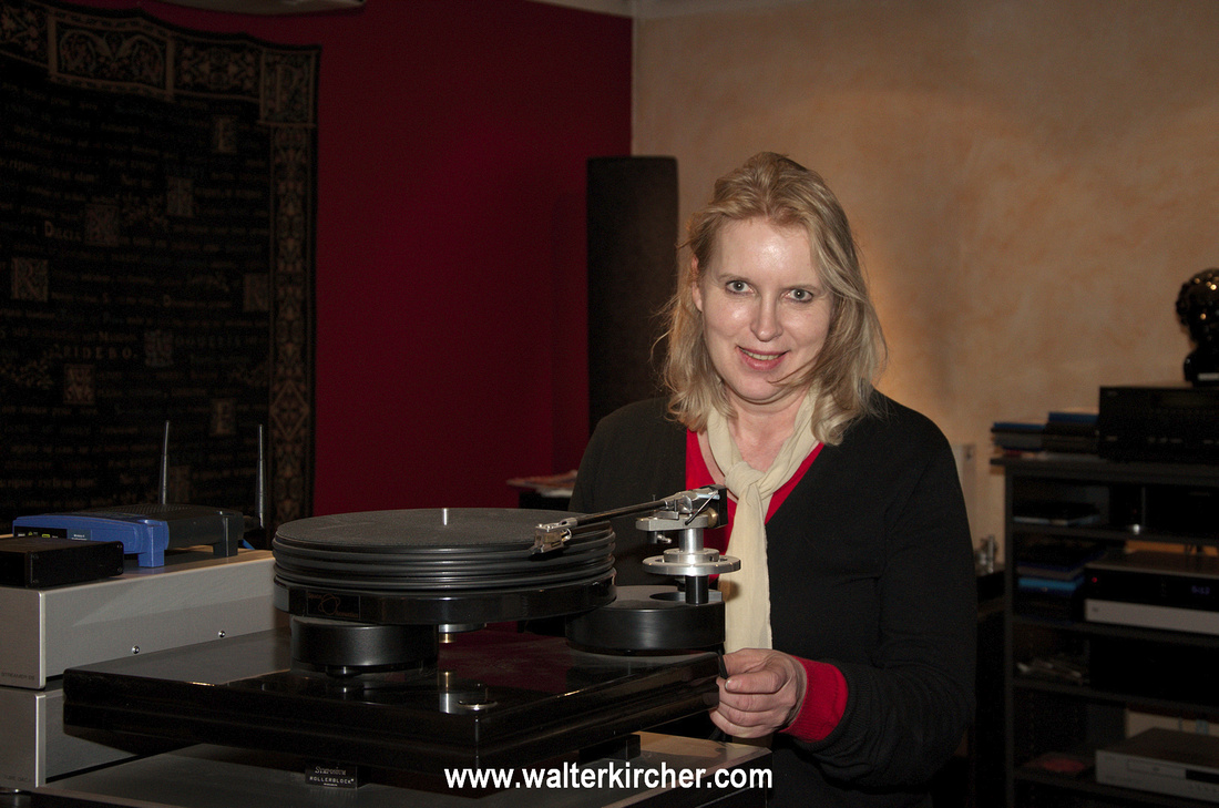 Acoustic Point Klagenfurt with owner Heidemarie Tratnik selling Accustic Arts electronics.