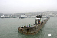 Dover - England - welcomes us with a typical British fog weather.