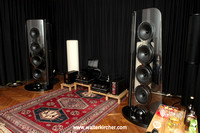 the complete MONOSTEREO setup at the event: SoulSonic Impulse SE speakers, Accustic Arts reference electronics including MONO II, Vovox textura fortis cables and Symposium Acoustics stands
